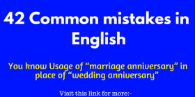 42 common Mistakes in English