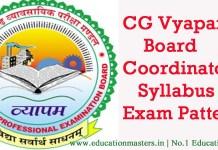cg-vyapam-board coordinator syllabus