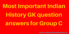 Indian History GK Question and Answer