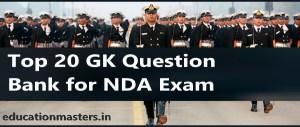 Top 20 GK Question Bank for NDA Exam