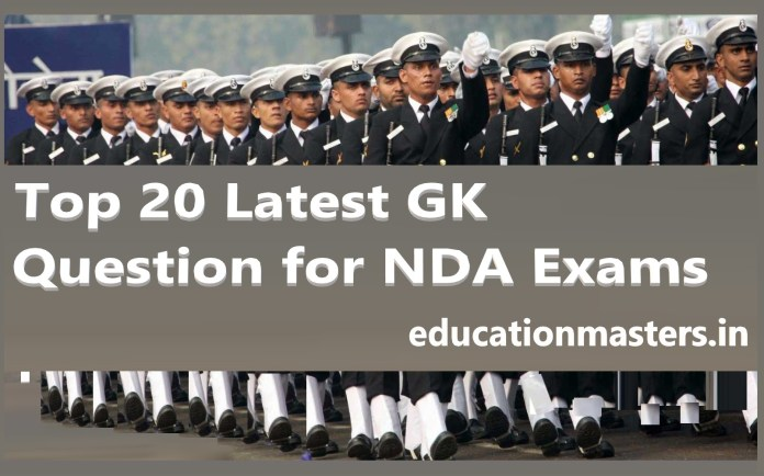 Top 20 Latest GK Question for NDA Exam