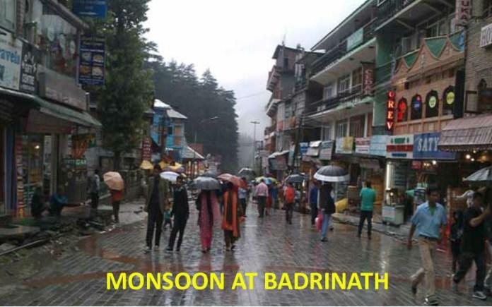 monsoon weather at badrinath