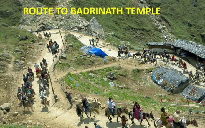 route to badrinath temple