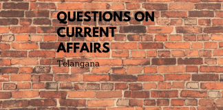 current affairs telegana july 2019