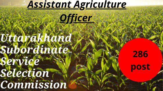 usssc-Assistant Agriculture Officer
