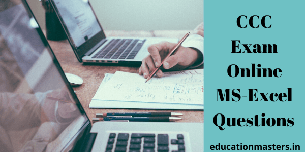 CCC Exam Online MS-Excel Questions