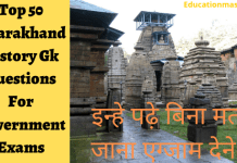 Top 50 Uttarakhand History Gk Questions For Government Exams
