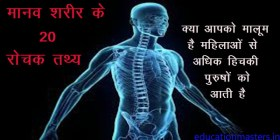 human body interesting facts in hindi