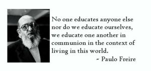 फ्रेरे का शिक्षा दर्शन, साक्षरता पर फ्रेरे