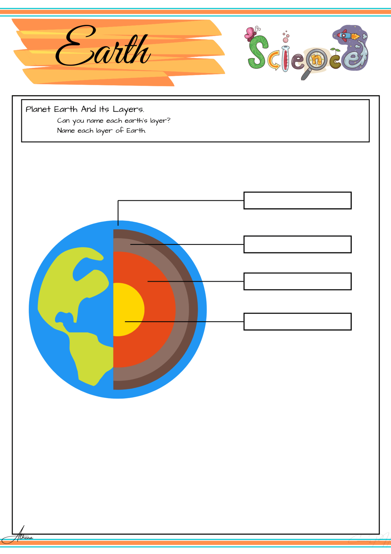 Grade 3 Science Worksheets Earth Science