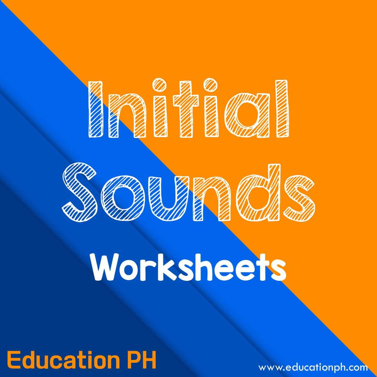Nursery Worksheets Initial Sounds