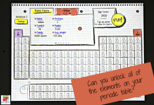 Elements of the periodic table game periodic diagrams science discover the periodic table with atomidoodle game app urtaz Image collections