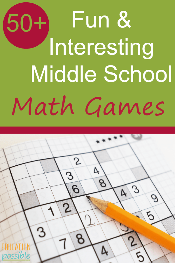 fun math games for middle school