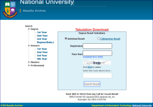 How to Check NU Degree 1st Year Exam Result By online?
