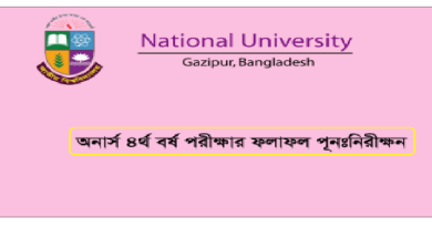 Nu Honours 4th Year Result Re-scrutiny Notice 2018 www.nu.ac.bd Nu Honours 4th Year exam Re-scrutiny