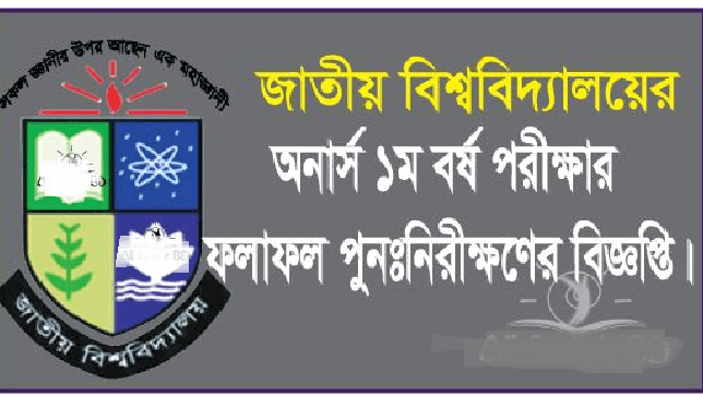 Nu Honours 1st Year Result Re-scrutiny Notice 2019- www.nu.ac.bd Nu Honours 1st Year Re-scrutiny notice