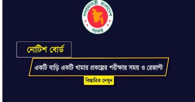 Ektee Bari Ektee Khamar Exam Result Ektee Bari Ektee Khamar (EBEK) Written Exam Date 2018