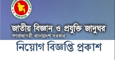 National Museum of Science and Technology Job Circular