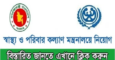 Ministry of Health and Family Welfare Job Circular MOHFW govt 2018