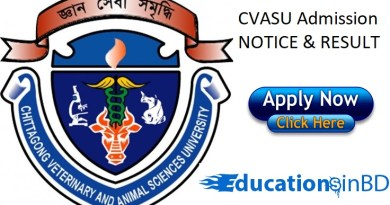 CVASU Admission Test Notice Result 2018-2019 -www.cvasu.ac.bd