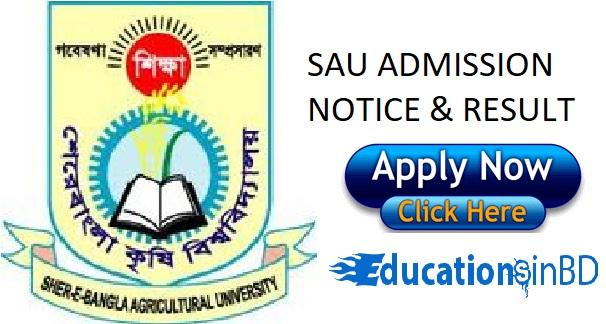 Sher-e-Bangla Agricultural University Admission Notice Result 2018-19 sau.edu.bd