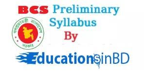 40th BCS Preliminary Syllabus And Marks Distribution Circular 2018