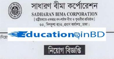 Sadharan Bima Corporation Job Circular & Apply Instruction -2018