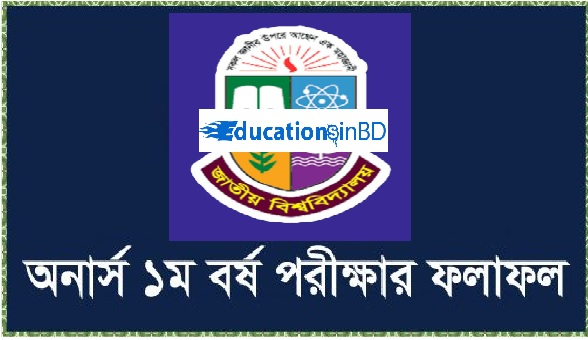 National University Honours 1st Year Result 2019 www.nu.ac.bd