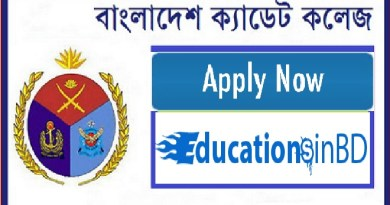 Cadet College Admission Test Notice Result 2019