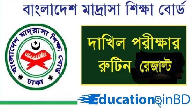Madrasah Education Board Dakhil Exam Routine 2019