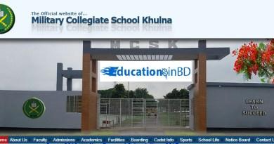 Military Collegiate School Khulna Admission Circular Result 2019