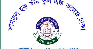 Shamsul Hoque Khan School & College Admission Circular Result 2019