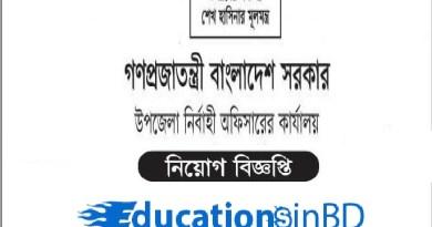Bangladesh Upazila Executive Officer Job Circular Result-2019