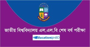 National University LLB Last Part Form Fill Up Circular 2019