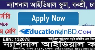 National Ideal School College Admission Notice Result 2020