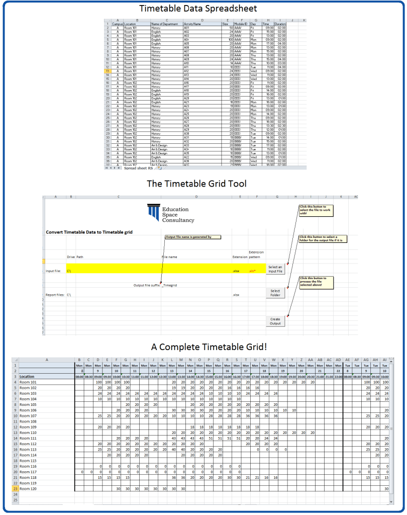 Timetable Grid Tool and Grid!