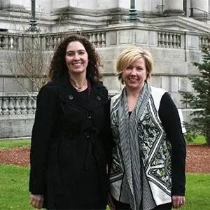 Jennifer Karls (left) and Sarah Butcher
