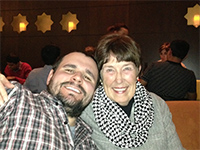 Connie Gerlitz with her son Jordan