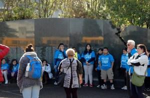 LEV Tri-Cities organizer Ruvine Jimenez preps public charter school students for the rally