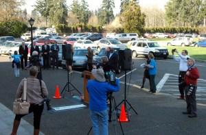 The rally drew plenty of media coverage