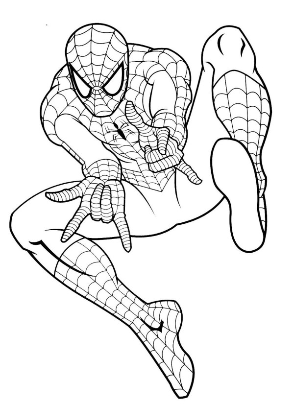 coloring pages of spiderman # 78
