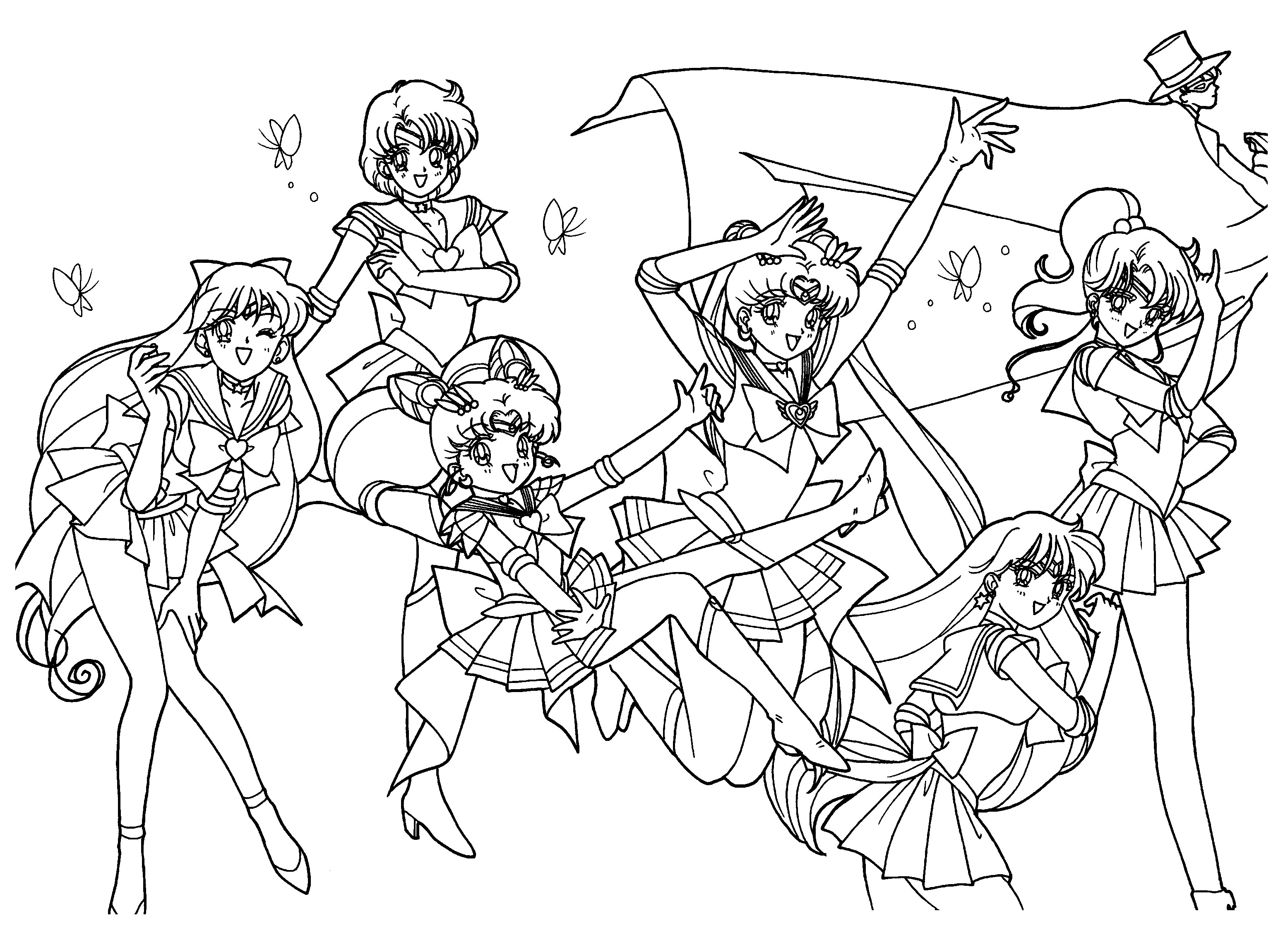 Sailor Moon Coloring Pages 2