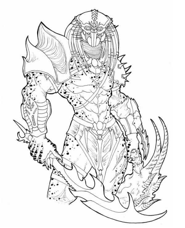 predator coloring pages # 55