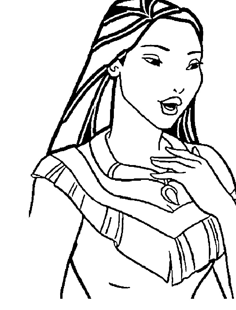 Pocahontas Coloring Pages Educative Printable
