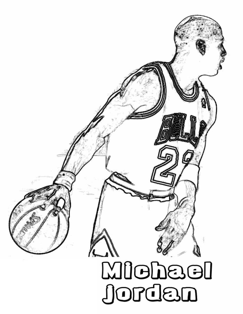 michael jordan coloring pages to print  educative printable