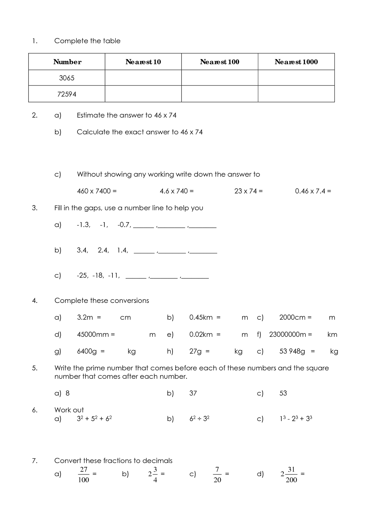 Year 6 Maths Worksheets For The Math Lovers
