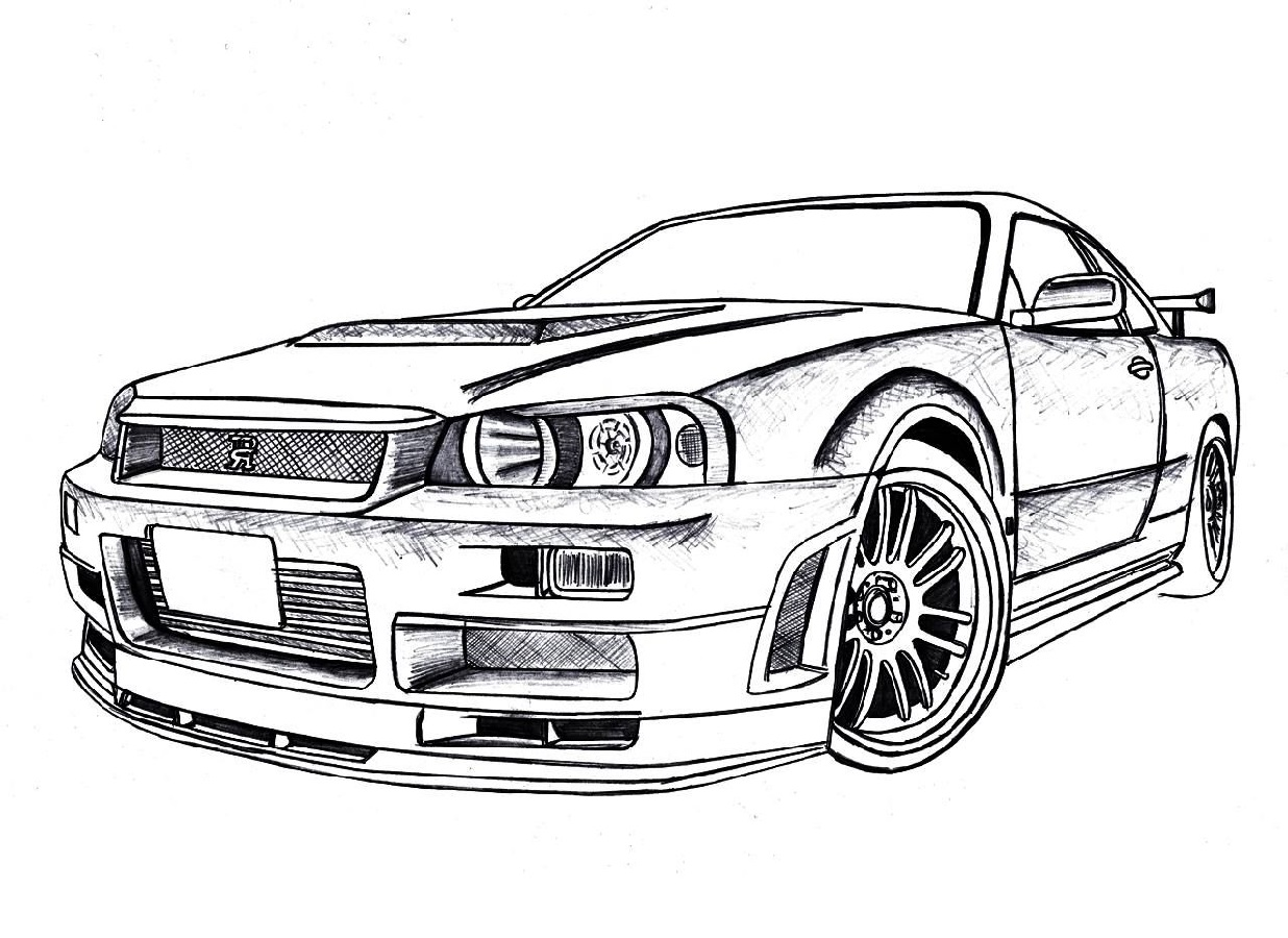 Gtr Coloring Pages Downloadable