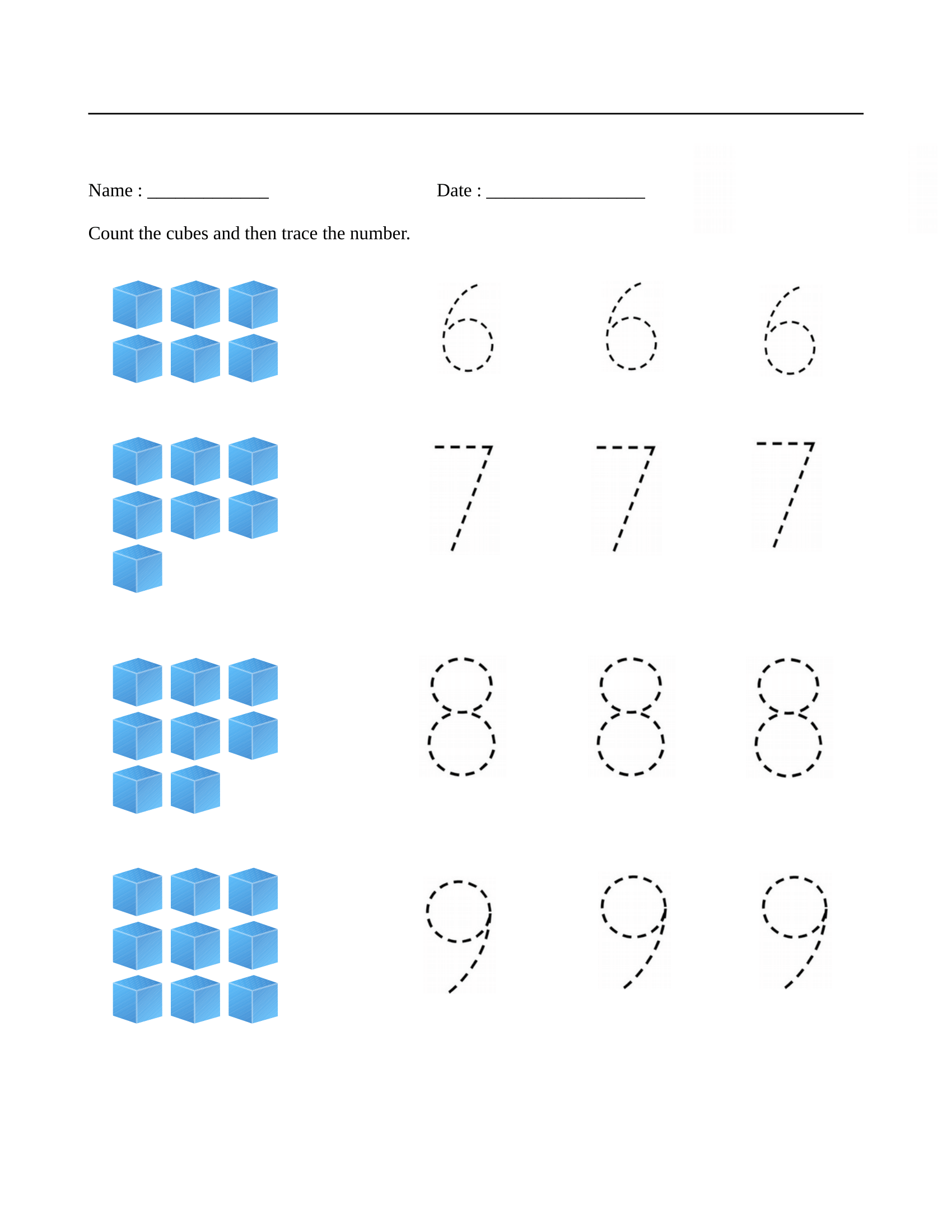Early Math Worksheet For Preschoolers