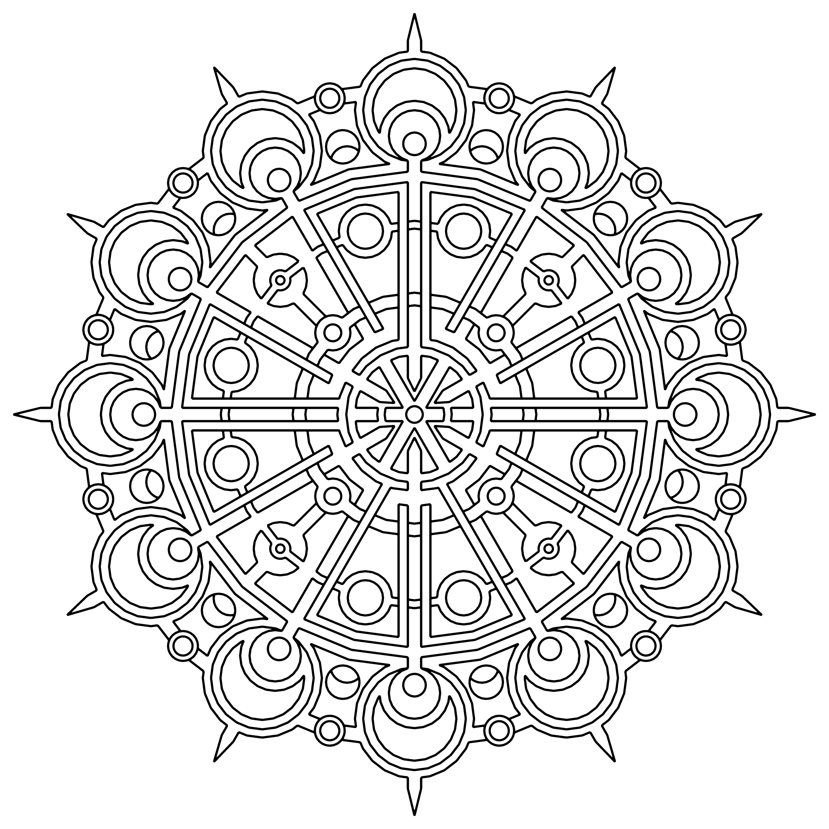 Geometric Coloring Pages Free Usage