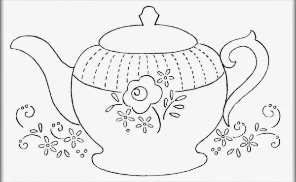 teapot coloring page # 64